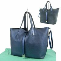 Sale! TIFFANY&Co. Logos Glitter Leather Reversible Tote Hand Bag Italy 10348bkac