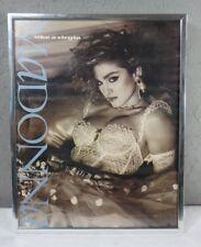 "Vintage 1984 Madonna Like A Virgin 2 Sided 11"" X 14"" Poster Sign"