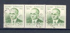 Italy 1974, Luigi Einaudi, SG 1387, strip of 3, fine used