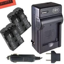 BM NP-FM500H 2X Batteries & Charger for Sony Alpha a77II, SLT-A57,A58,A65V,A77V