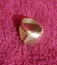 Mens Gold 18k Ring Solid Heavy Designer 18.4g pure WOW! Large