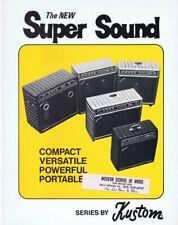 ORIGINAL Vintage 1970s Kustom Super Sound Amps Catalog