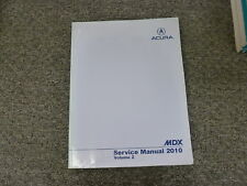 2010 Acura MDX SUV Shop Service Repair Manual Vol 2