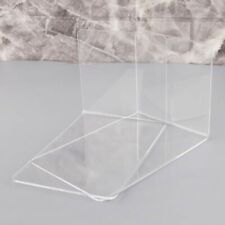 Clear Acrylic Bookends L-Shaped Desk Organizers Book Holder Office Supplies 2pcs