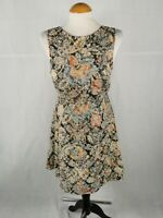 Ladies Dress Size 14 RIVER ISLAND Tapestry Skater Smart Day Party Wedding