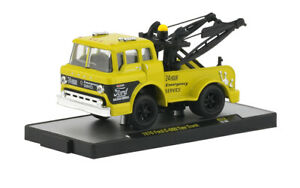 A L22 32500 52 M2 MACHINES AUTO TRUCKS 1970 Ford C 600 Tow Truck  1:64 yellow