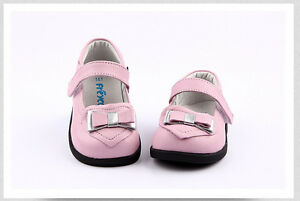 Freycoo Genuine Leather Kids Girls Shoes Pink sizes: 5 6 7 8 9 10 11 12