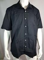 Jacamo Black Label Mens Black Pure Cotton Shirt Size X Large to 5XL RRP £26.99