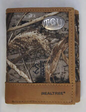 TCU Horned Frogs Trifold Realtree Max-5 Camo & Leather Wallet w Concho - Zep-Pro