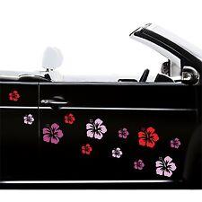 Auto Aufkleber 12x Hibiskus Styling Hawaii Hibiscus Blumen Sticker in 20 Farben