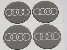AUDI 4 x 60mm Silikon Emblem Felgen Aufkleber Nabendeckel Nabenkappen