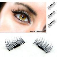 3D Magnetic 4pcs False Eyelashes No Glue Natural Extension Eye Lashes Handmade