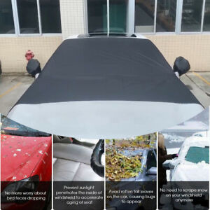 Pickup Car Snow Cover Windshield Ice Sun Frost Protector Black Polyester Taffeta