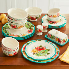 The Pioneer Woman Vintage Floral 20-Piece Dinnerware for 4 with Serve Set New
