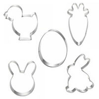 GI- Easter Rabbit Bunny Stainless Steel Cookie Cutter Set Biscuit Cookie Pastry