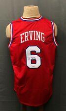 Julius Erving DR J #6 Signed 76ers Jersey Autographed Sz XL Beckett BAS COA HOF