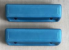 "Mopar Dodge Plymouth B C Body Medium Blue (332) 68/70 9 1/2"" Arm Rest Pads NEW"