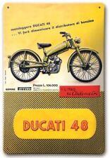 Ducati 48 Stamped Retro Metal Sign, Motorbike Logo, 987694029