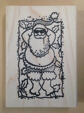 Mounted Rubber Stamp, Santa Claus, Santa w Pool Floatie, Summer Santa, Christmas