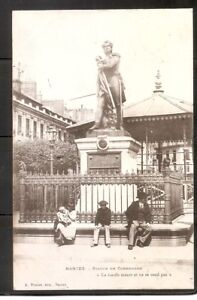 France - Nantes. Statue De Cambronne .Vintage Postcard. Posted year 1902