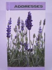 Lavender Purse Size Address Book 165 x 85mm Ozcorp AB20