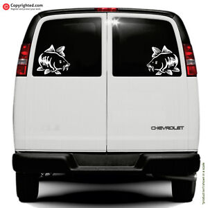 CARP - 2 stickers face to face - car van wall sticker