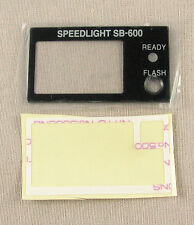 Nikon SB-600 LCD Window + Tape Unit GENUINE PART NEW 1K682-879