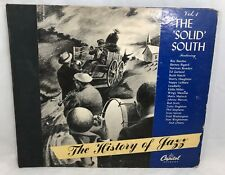 """HISTORY of JAZZ Vol.1 The Solid South 4 Record Set 10"""" LP Capitol Records CE16"""