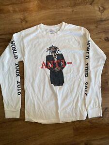 Rihanna 2016 Anti World Tour White Graphic 2 Sided Long Sleeve T Size S