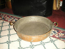 Antique Primitive Copper Over Metal Double Handle Pan-Middle Eastern-Country