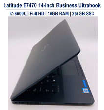 Dell Latitude E7470 Ultrabook i7-6600U FHD 16GB 256GB SSD Win 10 Pro Webcam