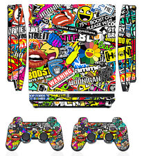 Bombing N262 Skin Sticker Cover for PS3 PlayStation 3 Slim & 2 controller skins