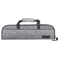 Messermeister 5 Pocket Felt Knife Storage Roll / Bag / Luggage - Heather Gray