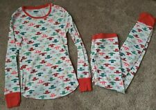 women's Old Navy thermal fitted leggings top sleep lounge wear pajamas M sweater