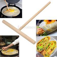 2X Wooden Pancake Spreader Crepe Rake  Batter Spreading Kitchen Utensil 15.5cm