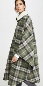 NWT Isabel Marant Etoile Gabin Brown Plaid Wool Blend Cape Sold Out