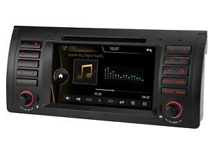 "7"" Autoradio GPS Navigation Lecteur DVD USB SD Ipod BT für BMW 5er E39 E53 X5 M5"