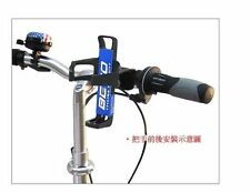 White MTB Bicycle Plastic Water Bottle Holder Cage with Quick Release Clamp Bike