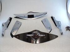 Kawasaki Vulcan VN900 VN 900 #7554 Windshield Chrome Trim / Mounting Brackets