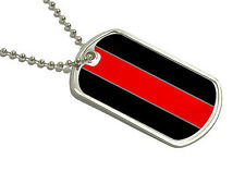 Thin Red Line Firefighters - Military Dog Tag Keychain
