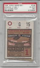 1929 World Series baseball ticket stub Philadelphia A's Chicago Cubs Gm1 PSA 4
