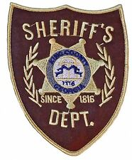"Walking Dead Sheriff's Badge  3 3/4"" Wide Embroidered Patch"