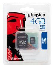KINGSTON MICRO SD 4GB HC CLASSE 4 SCHEDA MEMORIA 4 GB GIGA ALTA VELOCITA HD