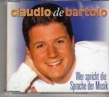 (CR227) Claudio De Bartolo, Wer Spricht Die Sprache Der Musik - DJ CD