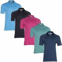 SKECHERS GO GOLF MENS KNIT SEAMLESS SHORT SLEEVE PERFORMANCE POLO SHIRTS