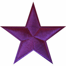 Purple Star Iron On Badge Sew On Patch Bag Clothes Crafts Embroidered Applique