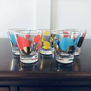 Five Russel Wright Eclipse Zombie Whiskey or Shot Glasses