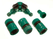 6 female quick fix garden hose conectors 2 dual tap and 2 tool adaptor