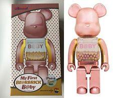 Medicom Toy MY FIRST BE@BRICK Bearbrick B@BY PINK & GOLD 400% Chiaki New