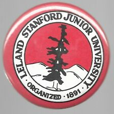 STANFORD UNIVERSITY THE TREE COLLEGE SPORTS FOOTBALL BASKETBALL SPIRIT PIN BUTTO